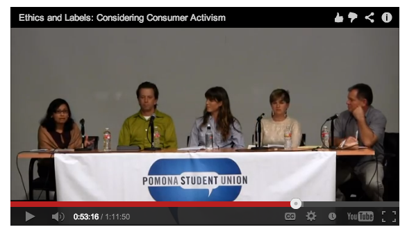 A Panel Discussion of Consumer Ethics & Labels Featuring the Nomad