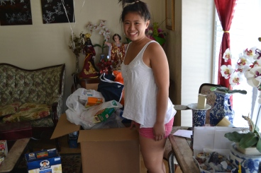 Standing next to the balikbayan box my parents just sent in June 2013.